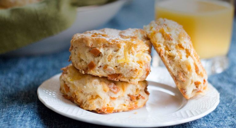 Smoky Ham and Cheese Biscuits
