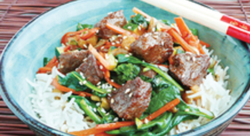 Korean Beefless Tips Rice Bowl